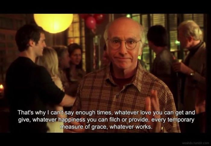 Larry David en Whatever woks